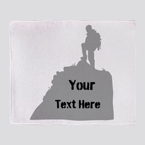 Hiking. Your Own Text. Throw Blanket