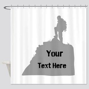 Hiking. Your Own Text. Shower Curtain