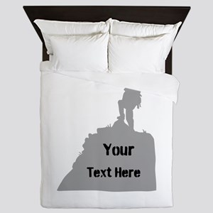 Hiking. Your Own Text. Queen Duvet