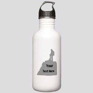 Hiking. Your Own Text. Stainless Water Bottle 1.0L