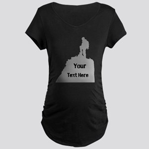 Hiking. Your Own Text. Maternity Dark T-Shirt
