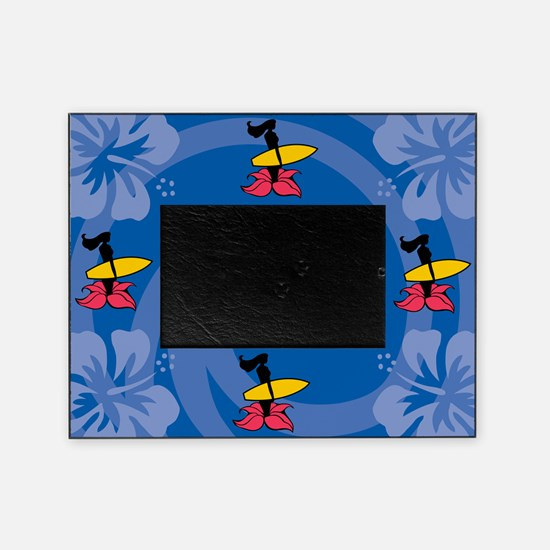 Surfing Wahine Picture Frame
