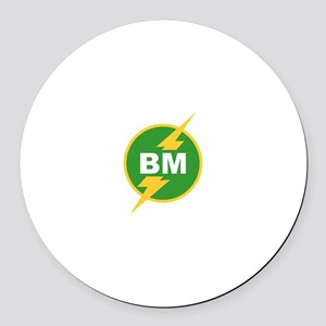 BM Best Man Round Car Magnet