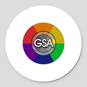 GSA Celebrate Round Car Magnet