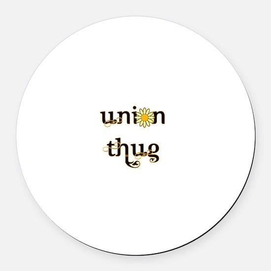 Union Daisy Round Car Magnet