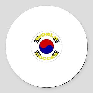 South Korea World Cup Round Car Magnet