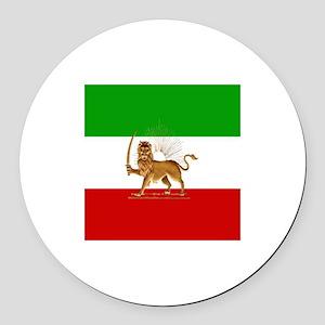 Shir O Khorshid Round Car Magnet