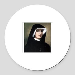 Saint Faustina Round Car Magnet