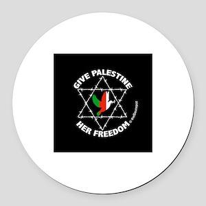 Imprisoned Palestine Round Car Magnet
