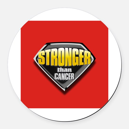Stronger than cancer Round Car Magnet