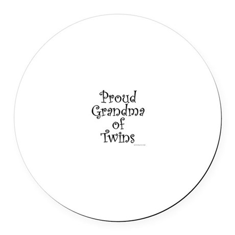 Proud Grandma of Twins Round Car Magnet