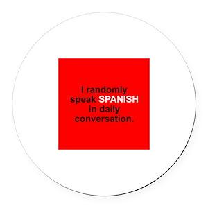 Random Spanish Round Car Magnet