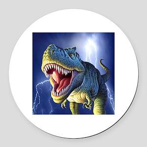 T-Rex 5 Round Car Magnet