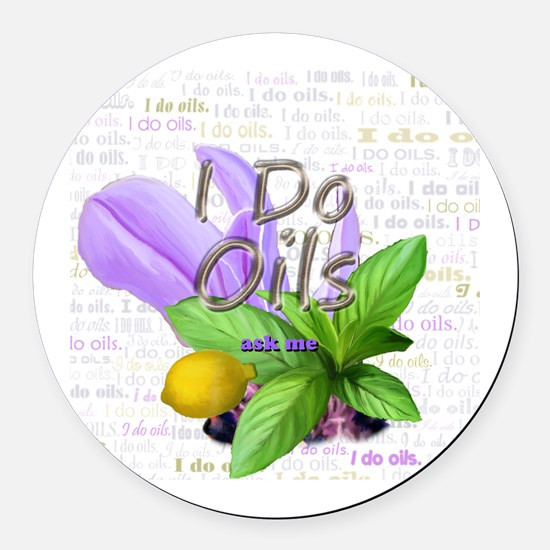 Cute Natural healthcare Round Car Magnet