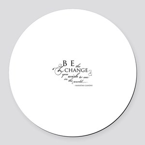 Change - Round Car Magnet