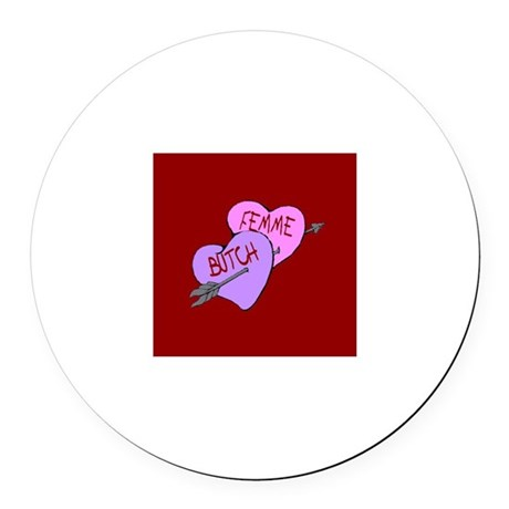 Sweethearts B-F Round Car Magnet