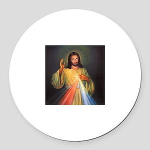 Divine Mercy 1 Round Car Magnet