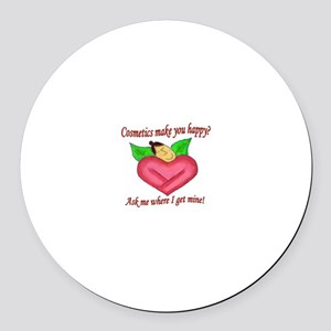 Cos Heart Round Car Magnet