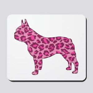 Pink Leopard Frenchie Mousepad
