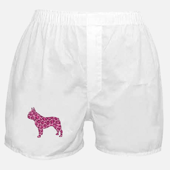 Pink Leopard Frenchie Boxer Shorts