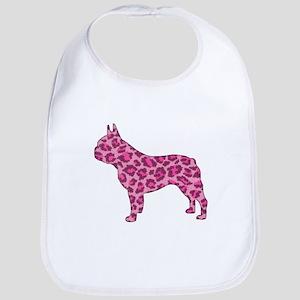Pink Leopard Frenchie Bib