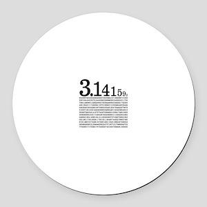 3.1415926 Pi Round Car Magnet