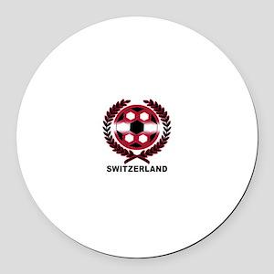 Switzerland World Cup Soccer Wreath Round Car Magn