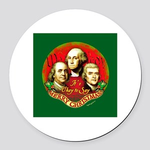 Founders OK to Say Round Car Magnet