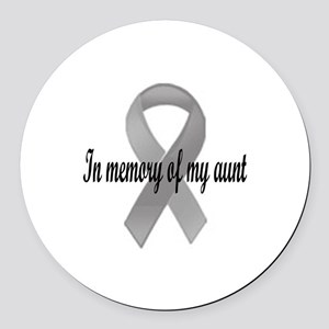 In memory of my aunt Round Car Magnet