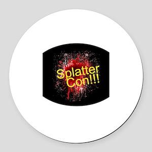 """""""Splatter Con!!!"""" Round Car Magnet"""