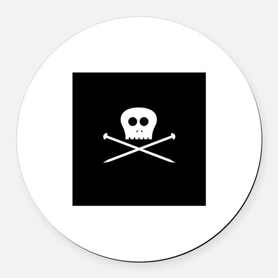 Craft Pirate Needles Round Car Magnet