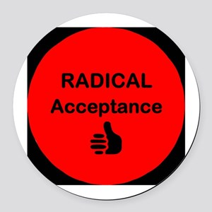Radical Acceptance Round Car Magnet