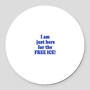 Free Ice Round Car Magnet