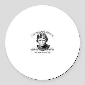 Margaret Mead 01 Round Car Magnet