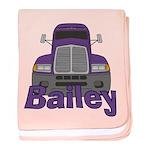 Trucker Bailey baby blanket