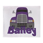 Trucker Bailey Throw Blanket