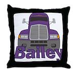 Trucker Bailey Throw Pillow