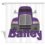 Trucker Bailey Shower Curtain