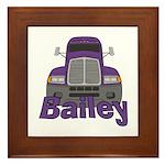 Trucker Bailey Framed Tile