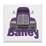Trucker Bailey Tile Coaster