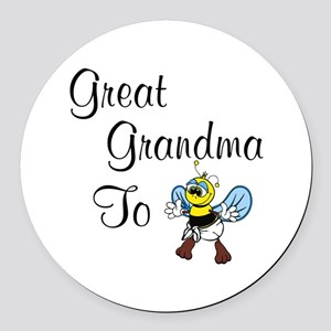Great Grandma To Bee Round Car Magnet