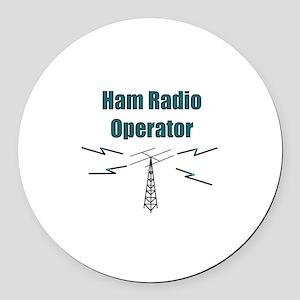 Ham Radio Operator Round Car Magnet