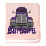 Trucker Barbara baby blanket