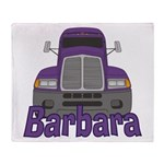 Trucker Barbara Throw Blanket