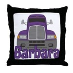 Trucker Barbara Throw Pillow