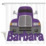 Trucker Barbara Shower Curtain