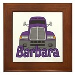 Trucker Barbara Framed Tile
