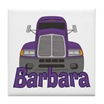 Trucker Barbara Tile Coaster