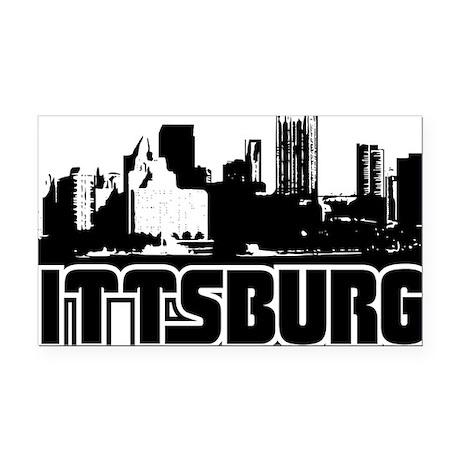 Pittsburgh Skyline Rectangle Car Magnet