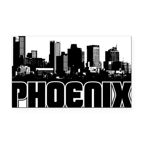 Phoenix Skyline Rectangle Car Magnet